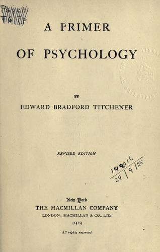 A primer of psychology.