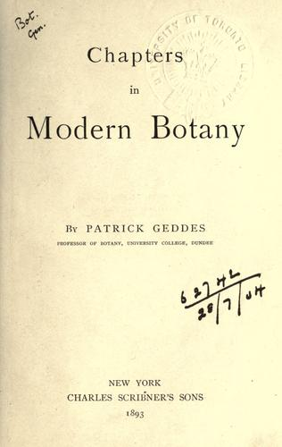 Download Chapters in modern botany.