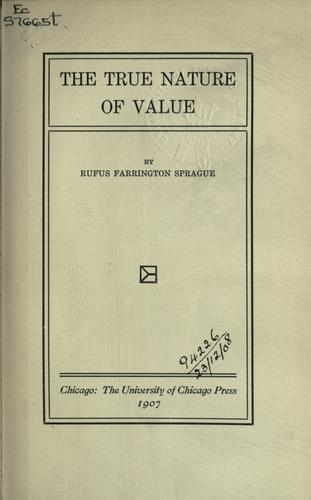 The true nature of value.