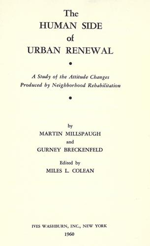 The Human Side of Urban Renewal
