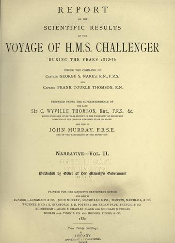 Download Report on the scientific results of the voyage of H. M. S. Challenger during the years 1873-76