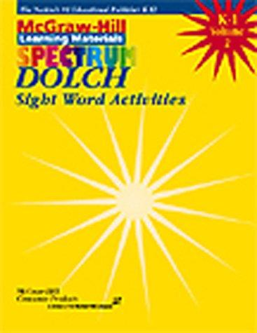 Download Dolch Sight Word Activities (Spectrum Series)