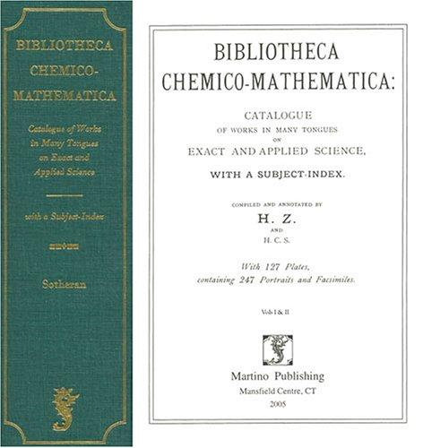 Download Bibliotheca chemico-mathematica
