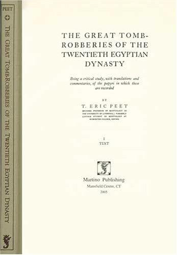 Download The great tomb-robberies of the twentieth Egyptian dynasty