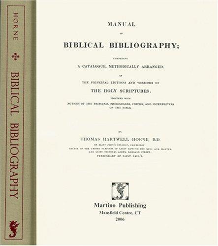 Download Manual of Biblical bibliography