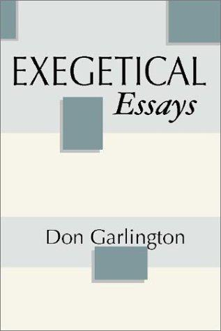 Exegetical Essays