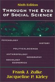 Through the Eyes of Social Science [Paperback] by Frank J. Zulke