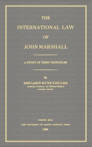 The international law of John Marshall