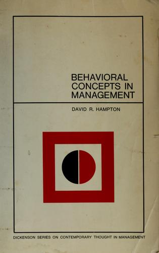 Behavioral concepts in management