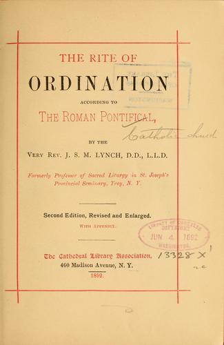Download Ritus ordinationum