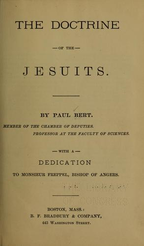 The doctrine of the Jesuits.
