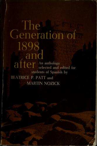 The generation of 1898 and after