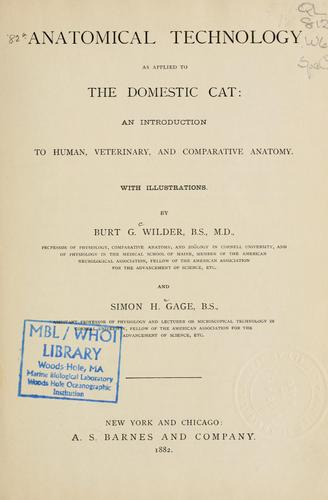 Download Anatomical technology as applied to the domestic cat