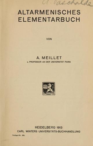 Altarmenisches Elementarbuch