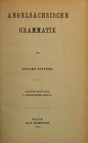 Download Angelsächsische Grammatik