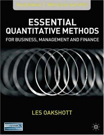 Essential Quantitative Methods for Business, Management and Finance