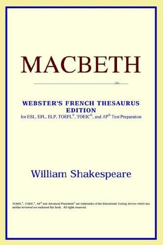 Download Macbeth (Webster's French Thesaurus Edition)