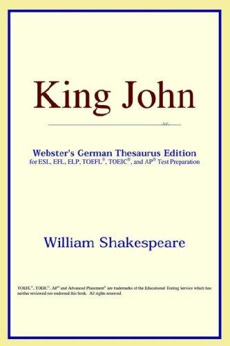King John (Webster's German Thesaurus Edition)