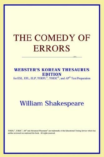 The Comedy of Errors (Webster's Korean Thesaurus Edition)
