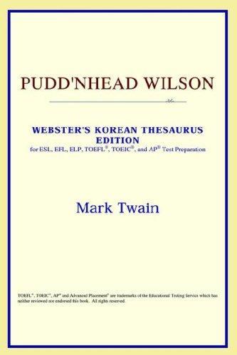 Pudd'nhead Wilson (Webster's Korean Thesaurus Edition)
