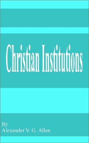 Download Christian Institutions