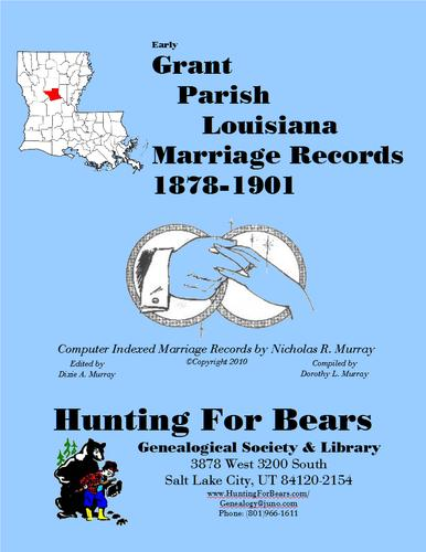 Grant Par LA Marriages 1878-1901 by