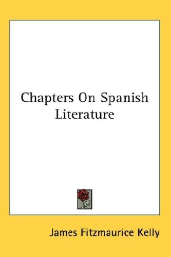Download Chapters On Spanish Literature