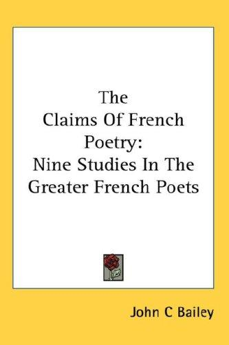 Download The Claims Of French Poetry