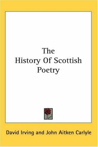 Download The History Of Scottish Poetry