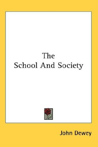 Download The School And Society