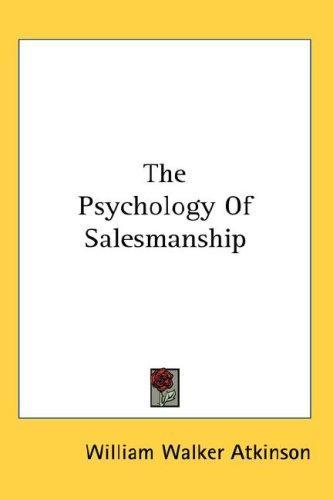 Download The Psychology Of Salesmanship