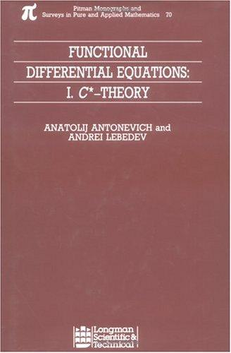 Functional differential equations.