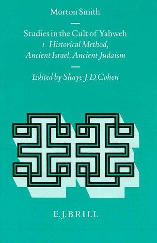 Studies in the Cult of Yahweh