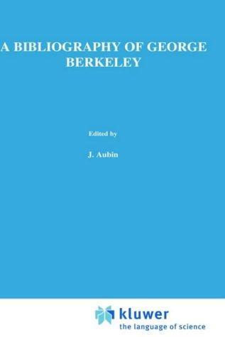 A bibliography of George Berkeley