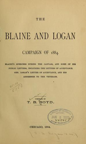 The Blaine and Logan campaign of 1884.