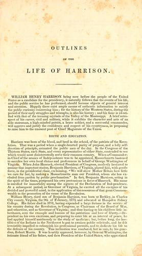 Outlines of the life and public services, civil and military, of William Henry Harrison