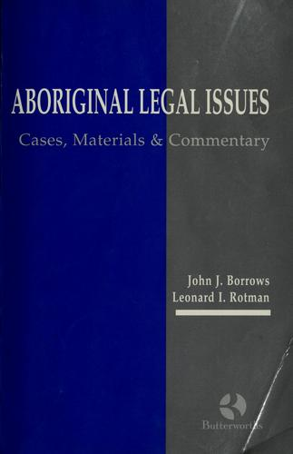 Download Aboriginal legal issues