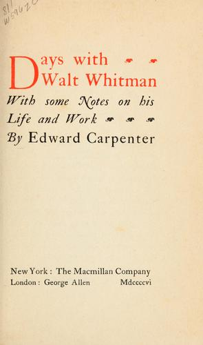 Download Days with Walt Whitman