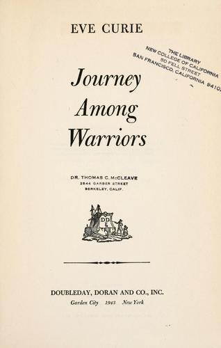 … Journey among warriors.