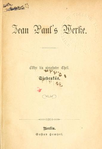 Jean Paul's Werke