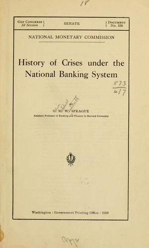 Download History of crises under the national banking system