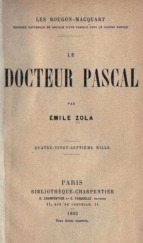 Download Le docteur Pascal.