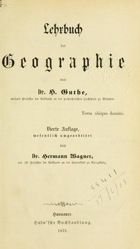 Lehrbuch der Geographie.