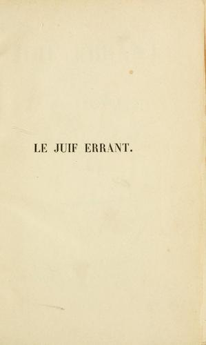 Download Le juif errant.