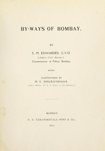 By-ways of Bombay.