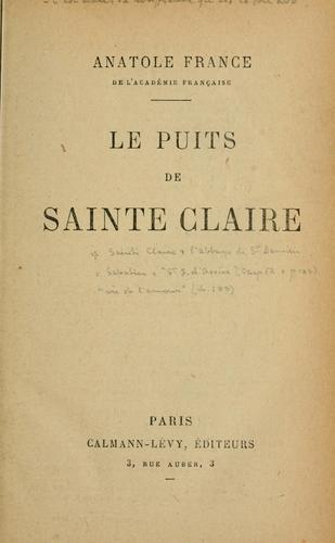 Download Le puits de Sainte Claire.