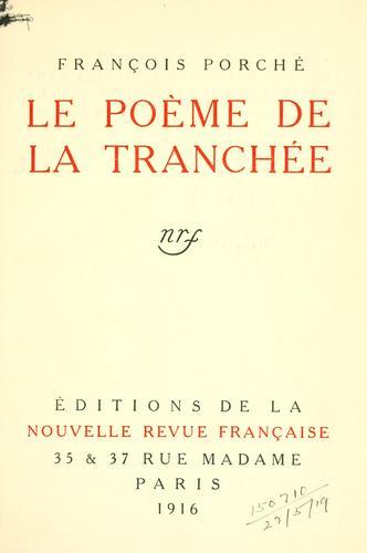 Le poème de la tranchée.