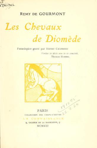 Download Les chevaux de Diomède.