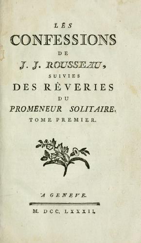Les confessions de J.J. Rousseau