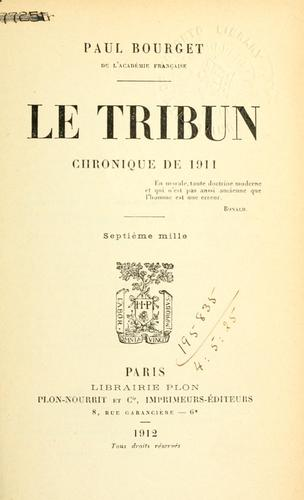 Le tribun